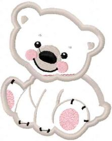 white bear applique free embroidery design