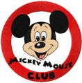 Mickey Mouse Club Logo embroidery design