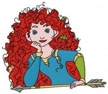Brave Princess Merida with arrow