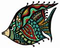 Mosaic fish 3 embroidery design