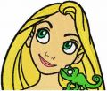 Rapunzel and Chameleon embroidery design