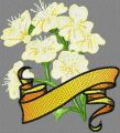 Hawthorn with Banner embroidery design