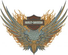 Harley Davidson flamed eagle
