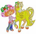 Strawberry Shortcake with Honey Pie Pony embroidery design