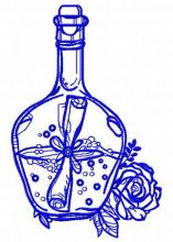 Bottle and flowers 4