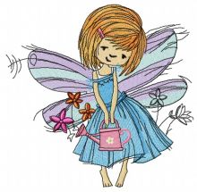 Fairy with watering can