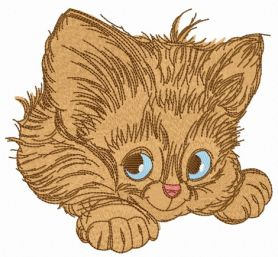 Adorable kitten 5 machine embroidery design
