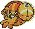 American football player 2 embroidery design