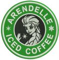 Arendelle iced coffee embroidery design