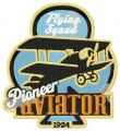 Pioneer aviator embroidery design