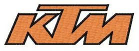 KTM alternative logo machine embroidery design