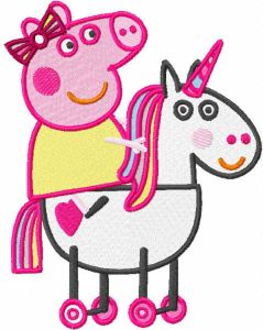 Peppa riding horse