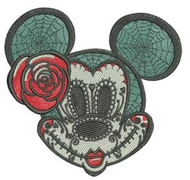 Halloween Minnie Mouse machine embroidery design