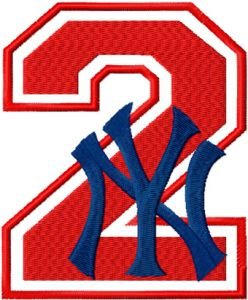 NY Yankees number two with logo