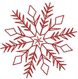 Snowflake free embroidery design 23