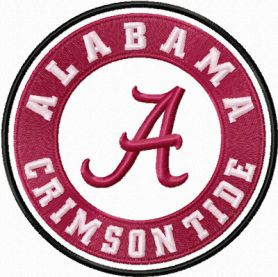 Alabama Crimson Tide logo machine embroidery design