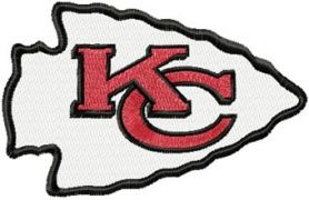 Kansas City Chiefs logo machine embroidery design