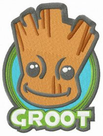 Groot badge machine embroidery design