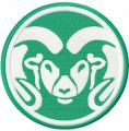 Colorado State Rams embroidery design