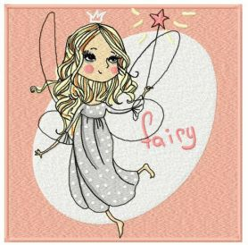 Charming fairy machine embroidery design