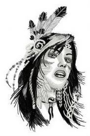 Native American teen machine embroidery design