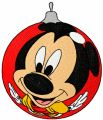 Mickey Mouse Christmas Ball embroidery design