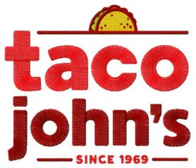 Taco John's machine embroidery design
