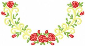 roses free embroidery design