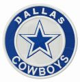 Dallas Cowboys round logo embroidery design