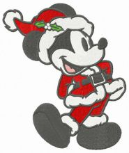 Retro Mickey in Santa costume