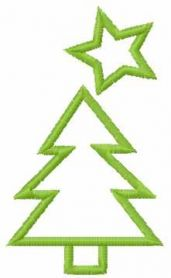 Christmas tree free embroidery design 4