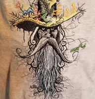 Strange man embroidered design