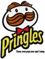 Pringles logo embroidery design