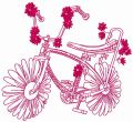 Chamomile bicycle 2 embroidery design