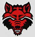 Arkansas State Red Wolves college logo embroidery design