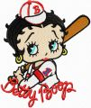 Betty Boop - One Team, One Goal embroidery design