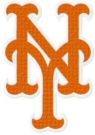 New York Mets logo machine embroidery design