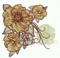 Big rose flowers embroidery design