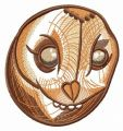 Owl's head embroidery design