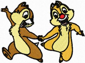 Chip & Dale 4 machine embroidery design