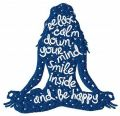 Relax, calm down your mind and be happy embroidery design
