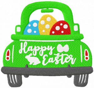Happy Easter car