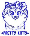 Pretty kitty 4 embroidery design