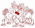 Deer's date 2 embroidery design
