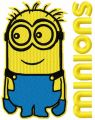 Minions 5 embroidery design