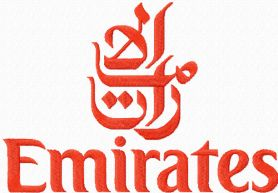 Emirates airlines logo machine embroidery design