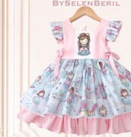 Dress for Girl with cute princess embroidery design