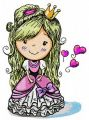 Cute princess embroidery design