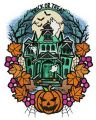 Trick or treat manor embroidery design