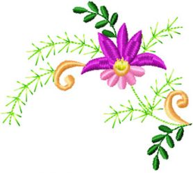 Flower Small Element 1 machine embroidery design